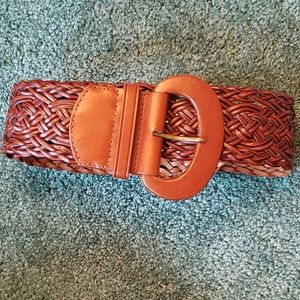 "Chaps Braided Belt Size Small 38"" Brown"